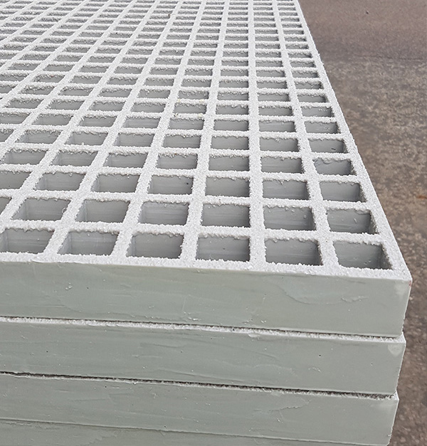White GRP Gratings, stacked