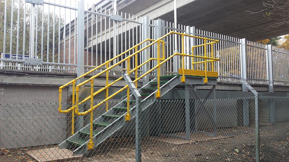 Grp Handrails Industrial Fibreglass Handrails Gripclad Uk