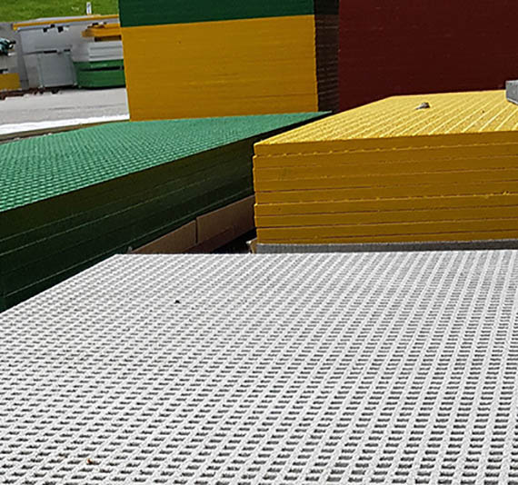 different coloured grp grating